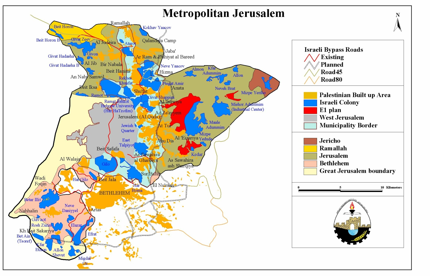 Maps Arabic Israel and Jerusalem Map – Jerusalem Tourist Map